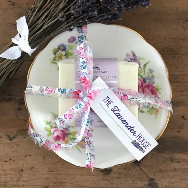 Soap and Vintage Dish Liberty Gift Set – Lavender