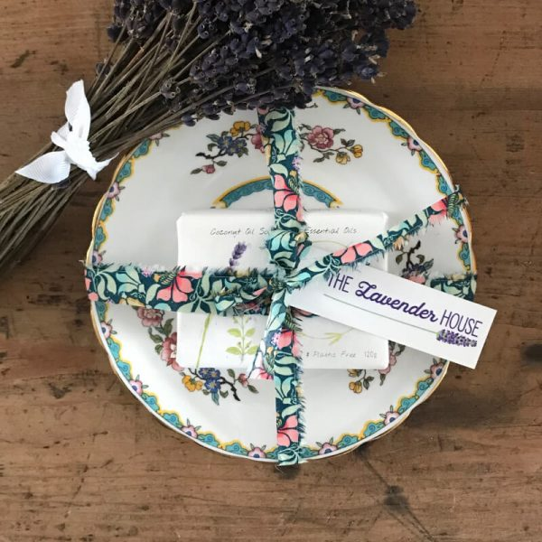 Soap and Vintage Dish Liberty Gift Set – Lavender and Coconut