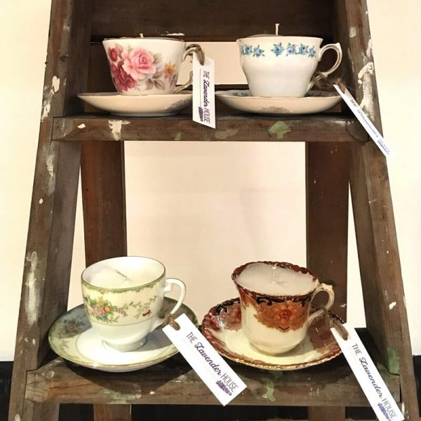 Natural Soy Candle –Cup and Saucer