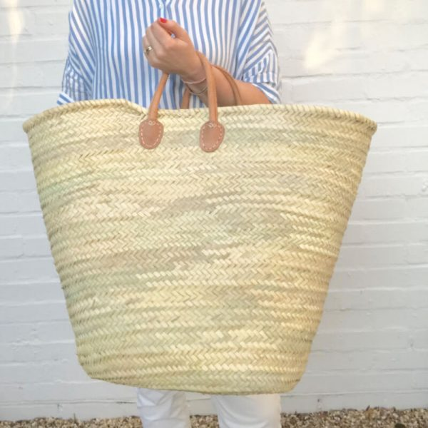 Bertha: Oversized Handwoven French Basket Bag