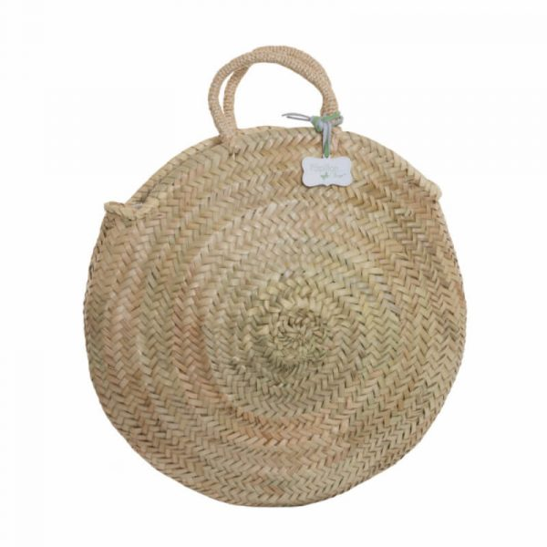 Ellie: Handwoven Round French Basket Bag