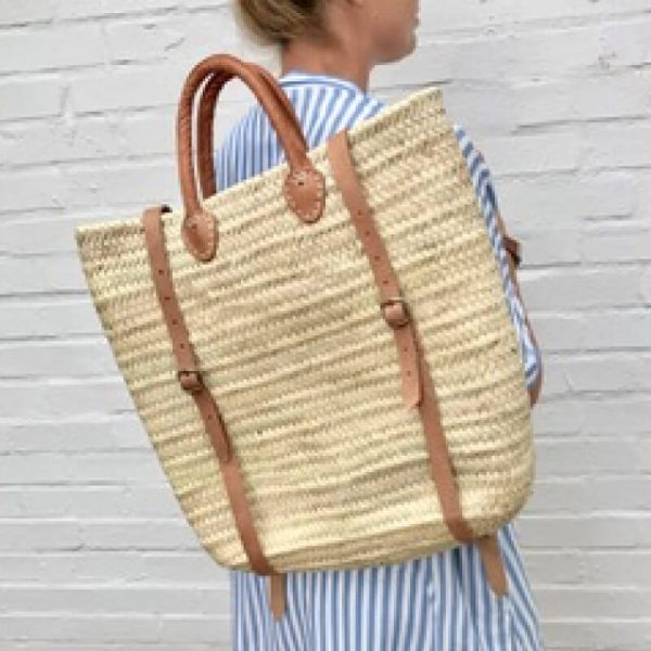 Imogen: Handwoven French Rucksack Basket Bag