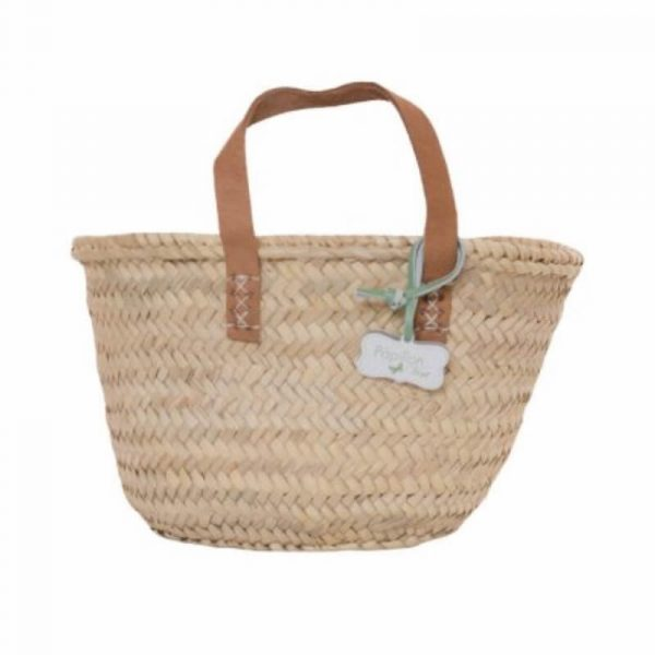 Lottie: Handwoven Small French Basket Bag