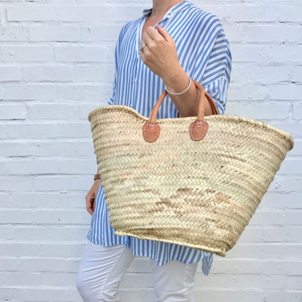 Olivia: Handwoven French Basket Bag