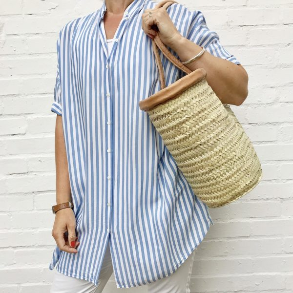 Nelly: Handwoven French Basket Bag